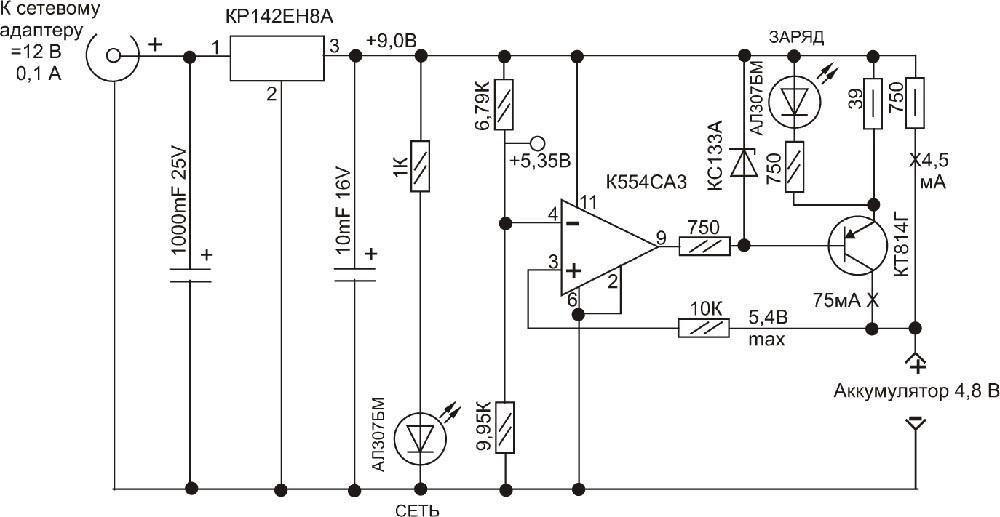 Заряд свинцовых аккумуляторных батарей необходимо производить от источника постоянного (выпрямленного) тока.